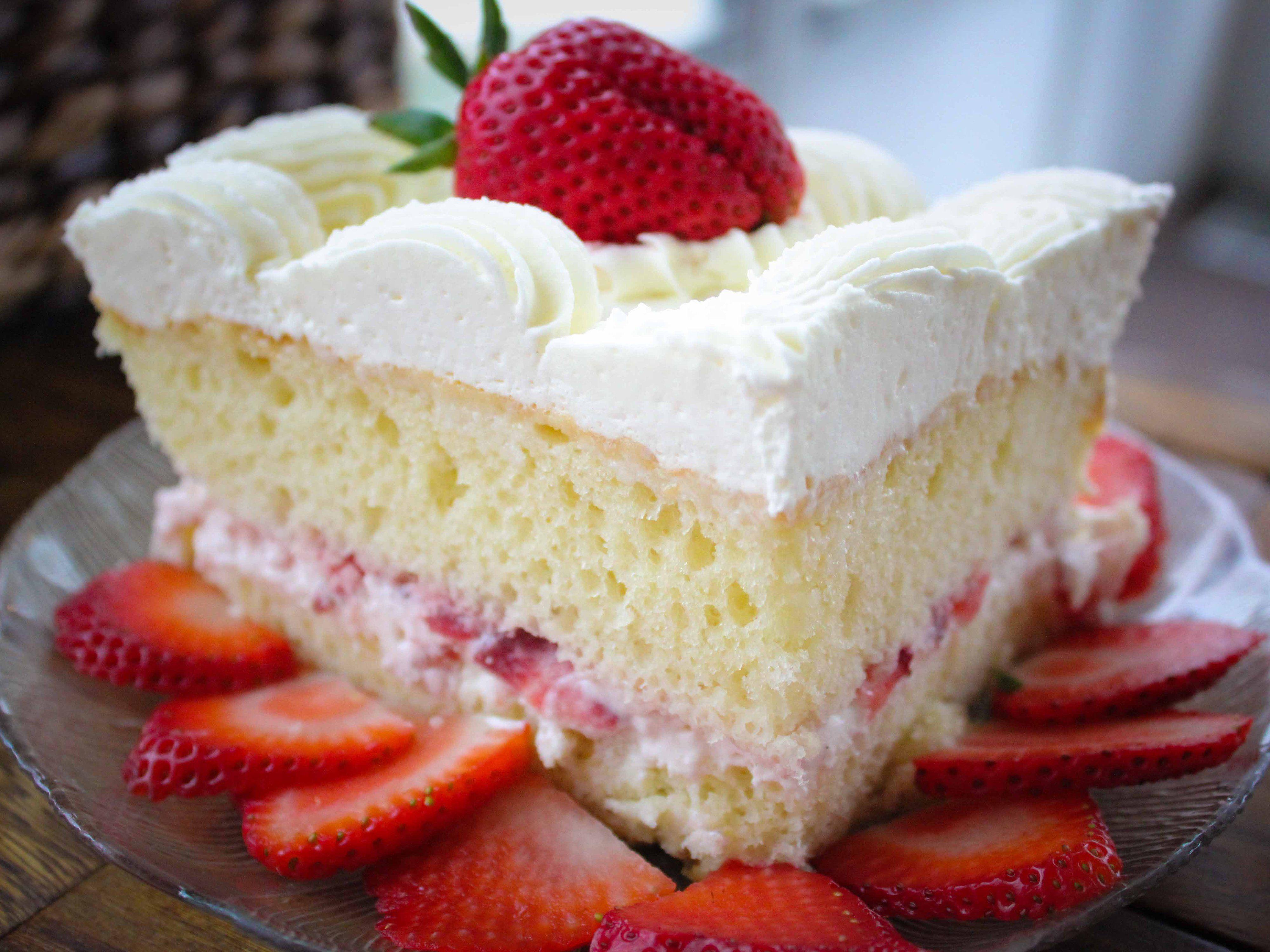 Strawberry Wedding Cake From Wheatfields Bakery Strawberry Wedding Cakes Cake Recipes Wedding Strawberries