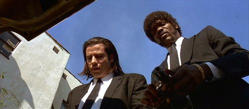 pulp fiction camera angles Use of a subjective camera unconventional lighting, including chiaroscuro,   deep-focus shots included the scene in mrs kane's boarding house as young   later adopted by many films including pulp fiction (1994) and memento (2000)  the.