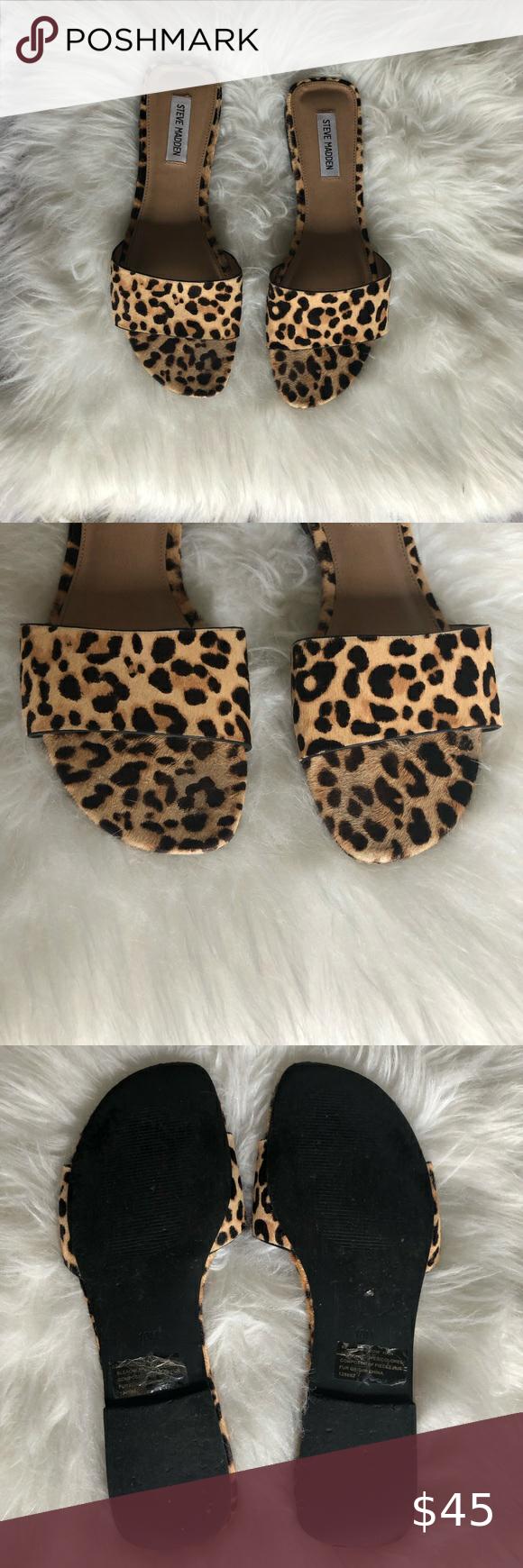 Steve Madden Bev leopard sandals in