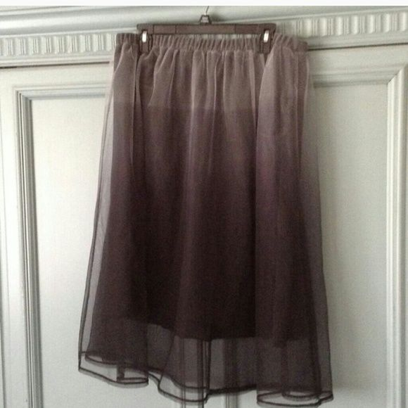 High waisted skirt Black underneath with ombre tulle. Beautiful skirt. I'm just a tad too short for it. Xhilaration Skirts Midi