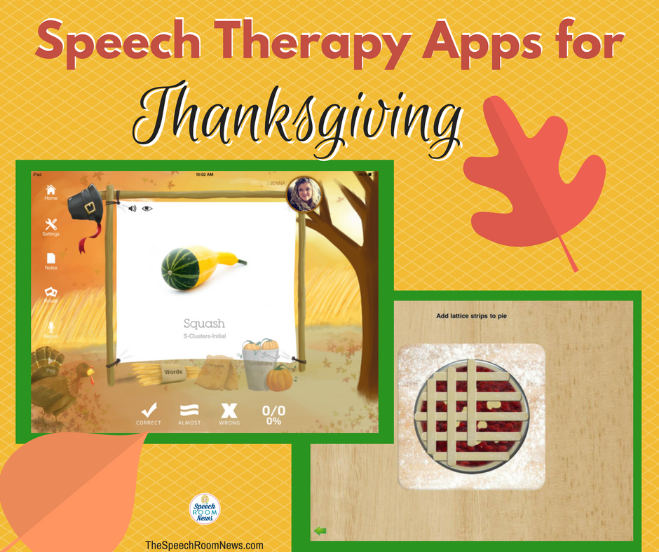 Thanksgiving Apps For Speech Therapy Speech therapy