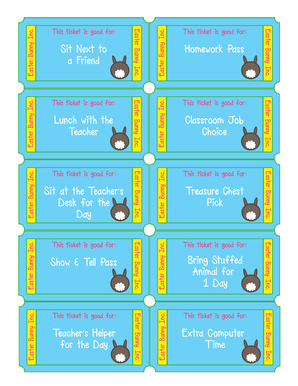 free printable easter egg tickets the perfect alternative to candy for easter egg hunts