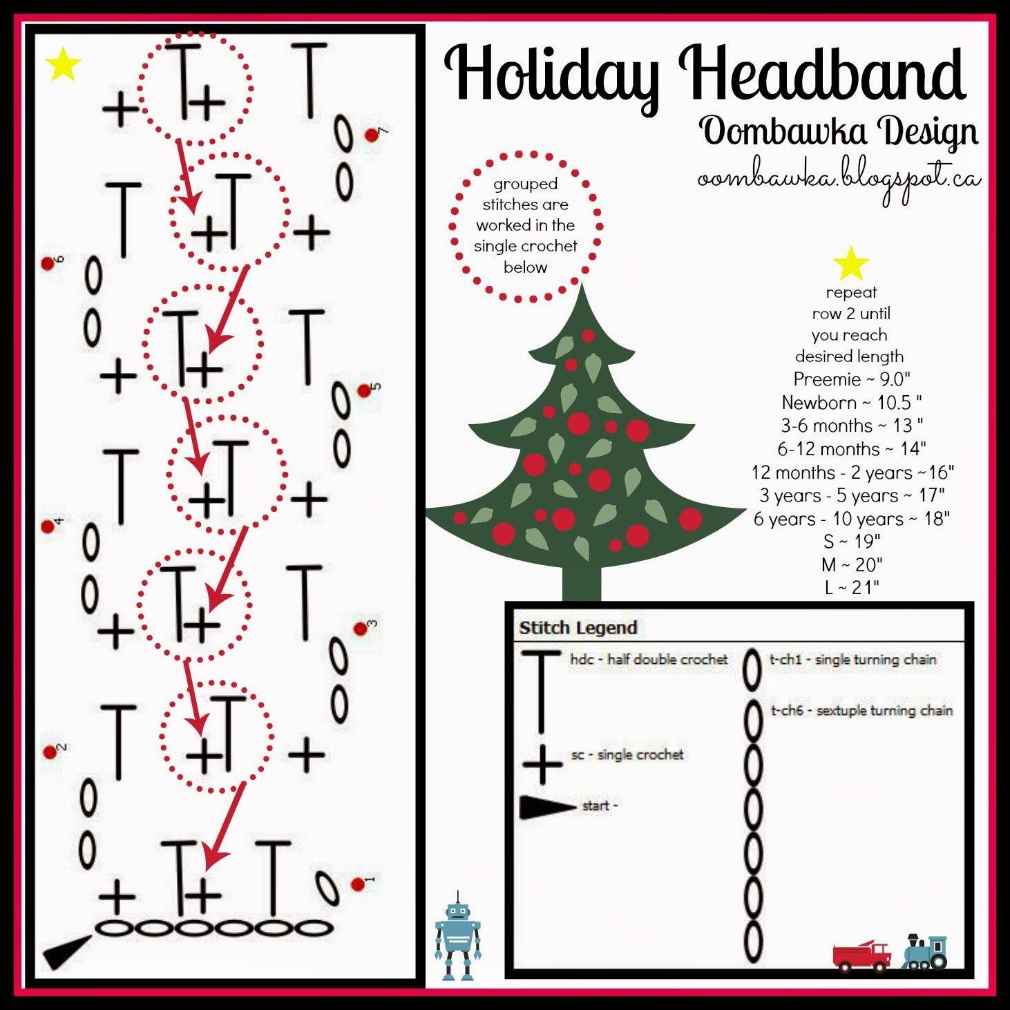 Holiday Headband - Free Crochet Pattern | Pinterest