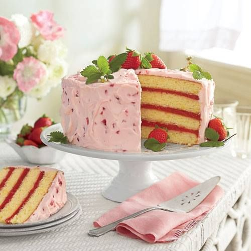 Strawberry Lemonade Cake Recipe Southern Living