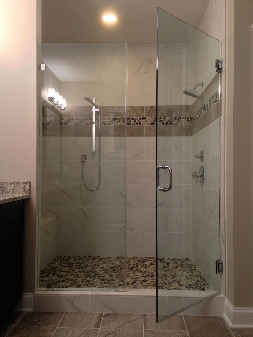 Frameless Inline Shower Enclosures Shower Enclosure Glass