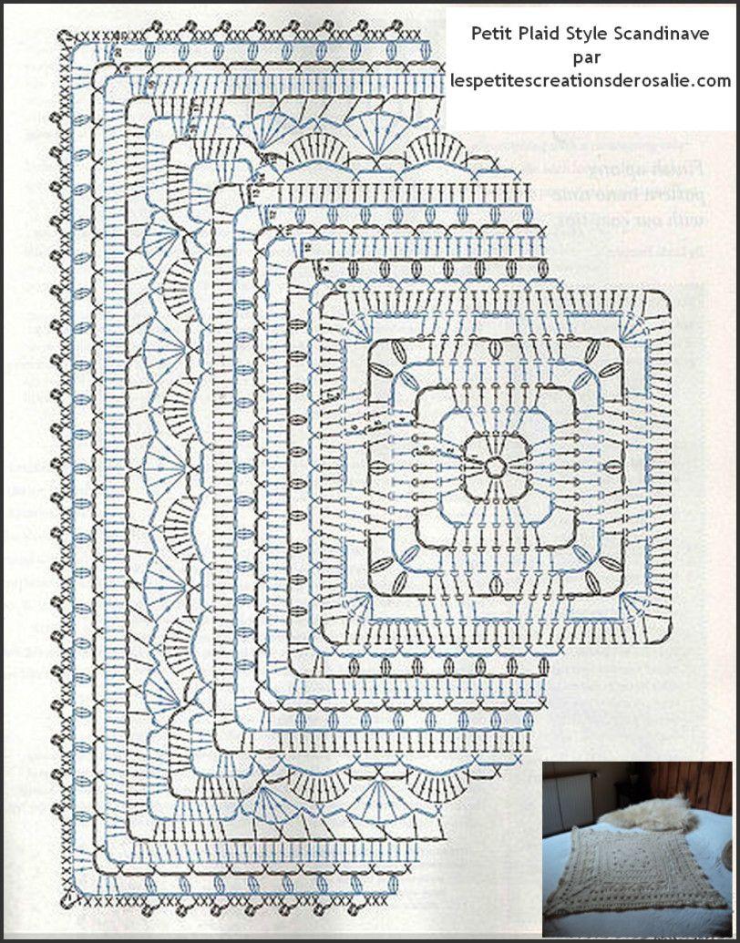 plaid scandinave | crochet tuto | Pinterest