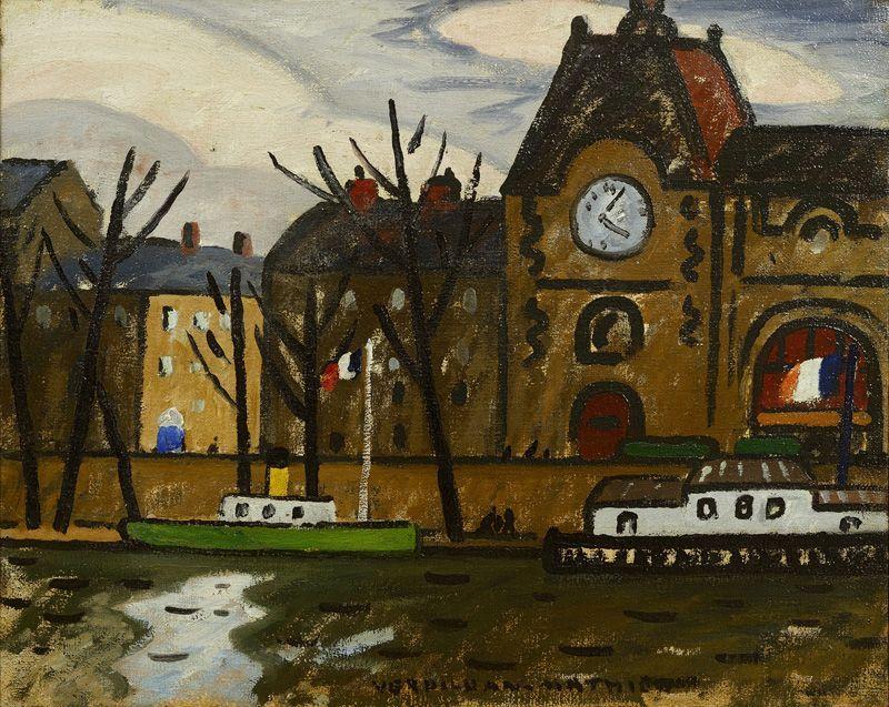 "LOUIS MATHIEU VERDILHAN (French, 1875-1928) - ""La gare d'Orsay"""