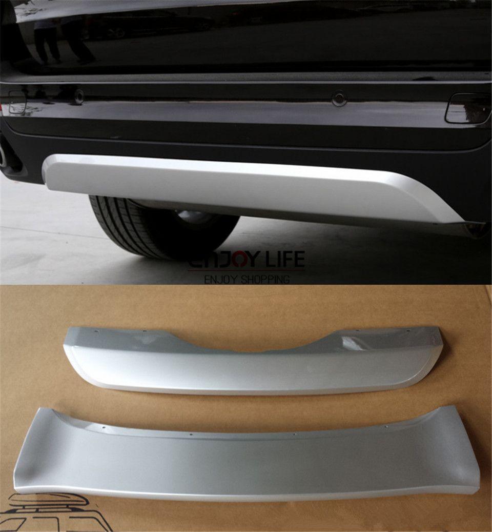 2pcs Abs Front Rear Bumper Protector Guard Skid Plate For Bmw X5 F15 2014 2015 Rear Bumper Protector Bmw X5 Bmw
