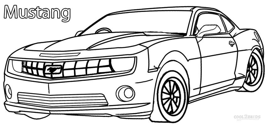 Mustang Coloring Pages With Images Cars Coloring Pages Race