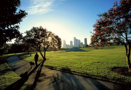 One of many beautiful parks in Houston!