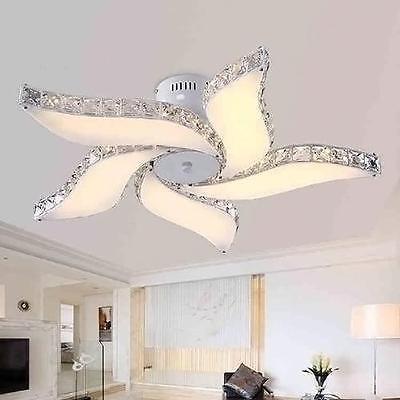 Modern Crystal Flower Chandelier Led Pendant Lamp Lighting Ceiling Fixture New Ceiling Lights Living Room Ceiling Fan Chandelier Modern Ceiling
