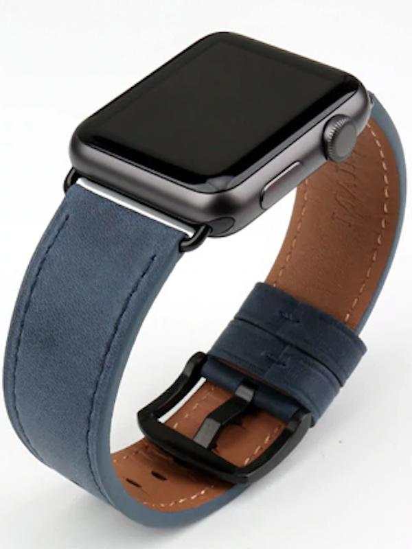 Apple Watch Leder Armband Echtleder Naturleder Handgefertigt Apple Watch Series 1 2 3 4 Genuine Leder Blau Armband Leder Leder Weiches Leder