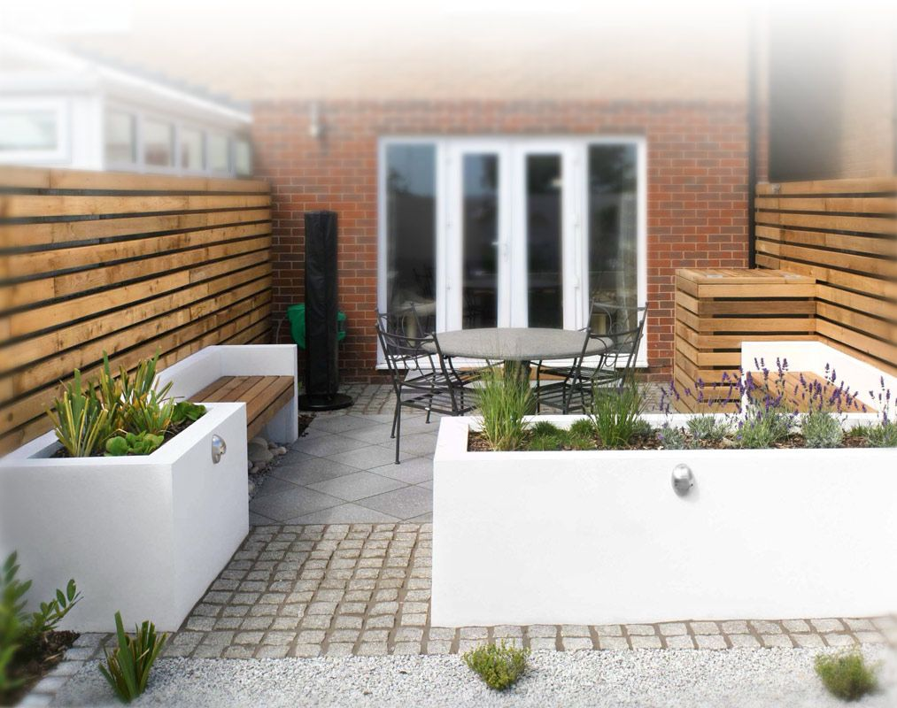 A small contemporary garden woodpecker garden and for Modern back garden designs