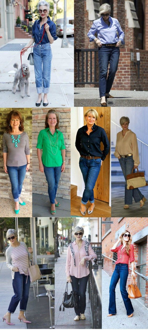 Dicas De Looks Com Calca Jeans Para Mulheres Maduras Moda De