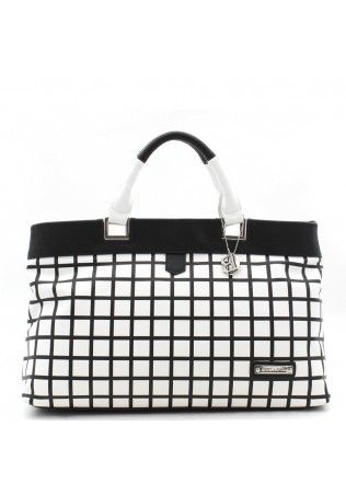 Bulaggi Handbag Black and White