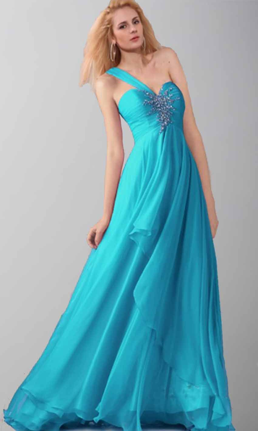 Flowing Sequin One Shoulder Long Prom Dresses KSP414 | uk prom ...