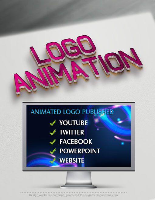 Create Your Own Video Logo Animation Animated Logo Maker Motion Graphics Logo Dog Logo Design Logo Diy