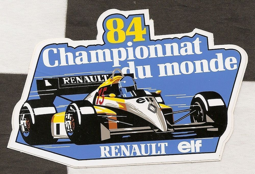 Renault Racing Team Logo Formula One F1 Motorsport Vinyl Decal Sticker Car