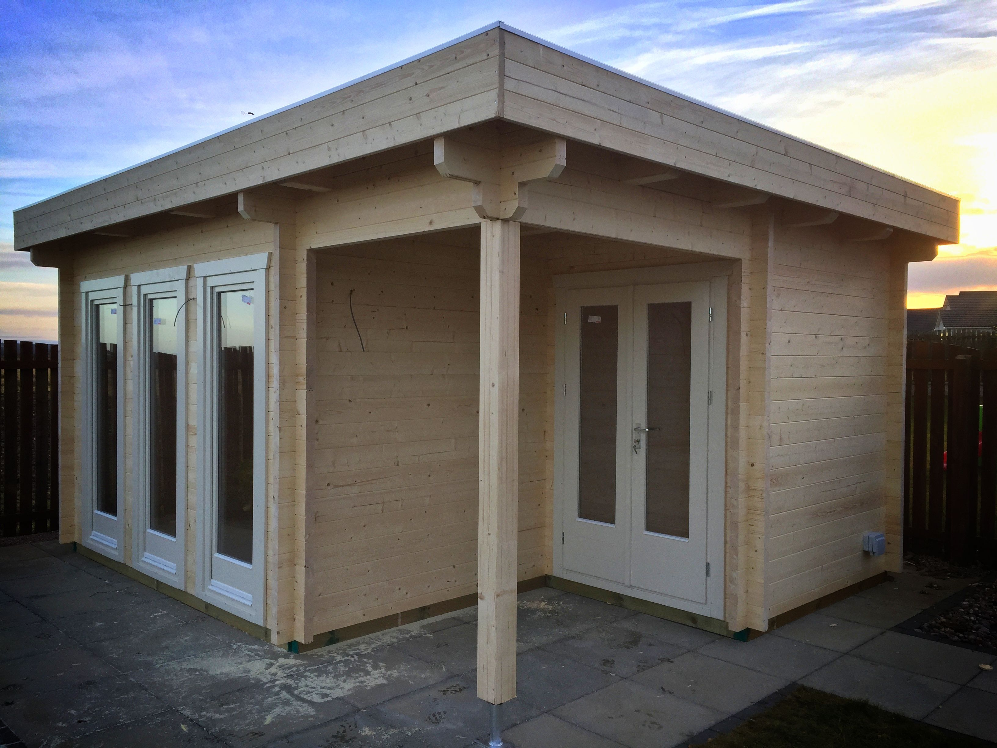 Best 4M X 5M Flat Roof Log Cabin With Epdm Roofing Cabin 640 x 480