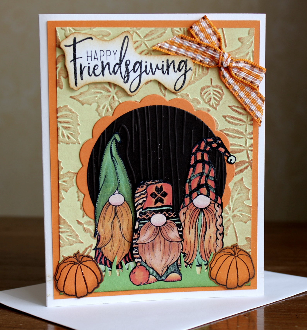 Diy Thanksgiving Card Kit Gnome Cards Gnomes And Pumpkins Etsy In 2020 Thanksgiving Cards Friendship Cards Happy Easter Card