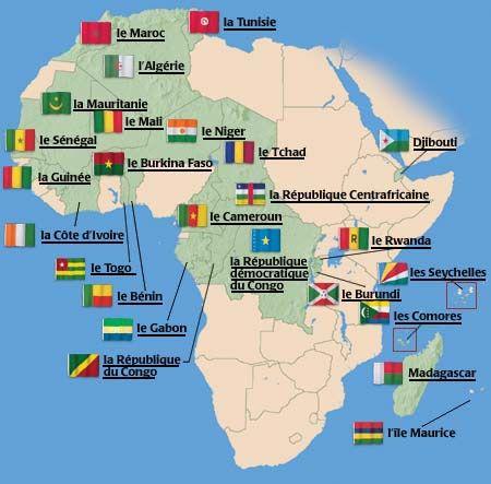Carte De Lafrique Francophone.Info L Afrique Francophone Subsaharienne A Nouveau En Tete