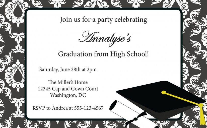 Free Graduation Party Invitation Templates Invitation Sample - Party invitation template: graduation party invitation postcard templates free