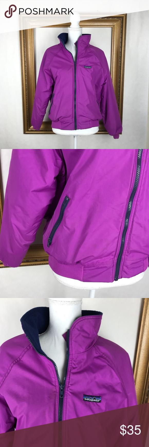 Vintage patagonia purple fleece lined ski bomber my posh closet