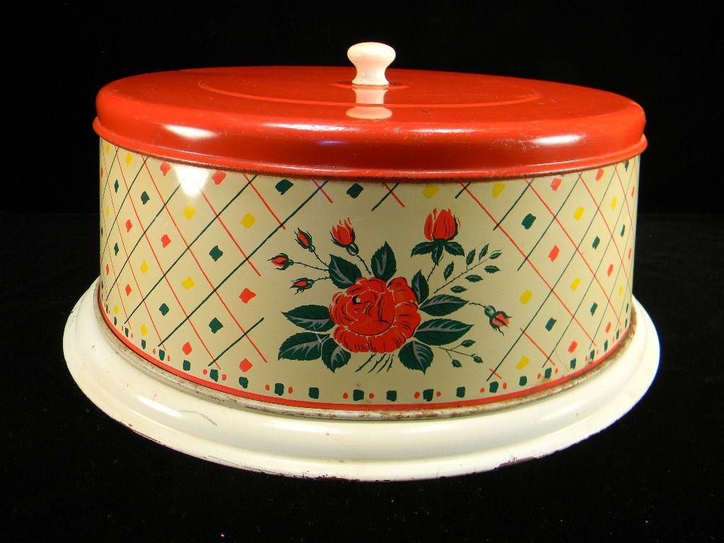 Vintage Red Floral u0026 Colorful Confetti Cake Plate u0026 Cover LOVE ... & Vintage Red Floral u0026 Colorful Confetti Cake Plate u0026 Cover LOVE This ...