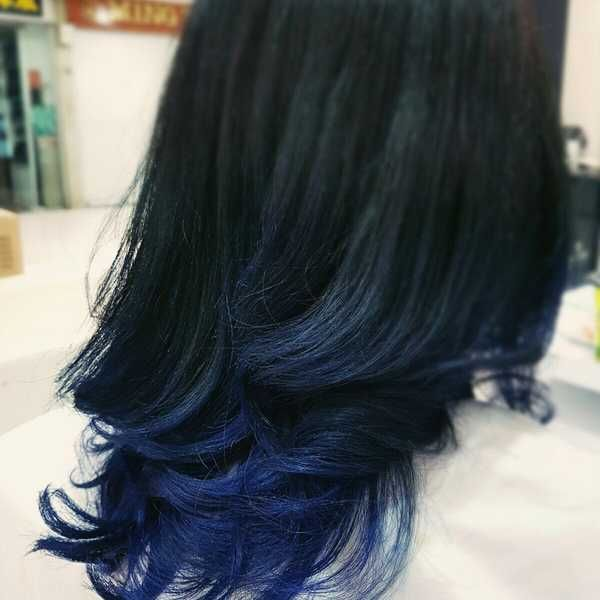 27 Blue Black Hair Tips And Styles Blue Black Hair Dark Blue