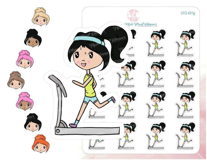 Exercise Planner Stickers | Treadmill