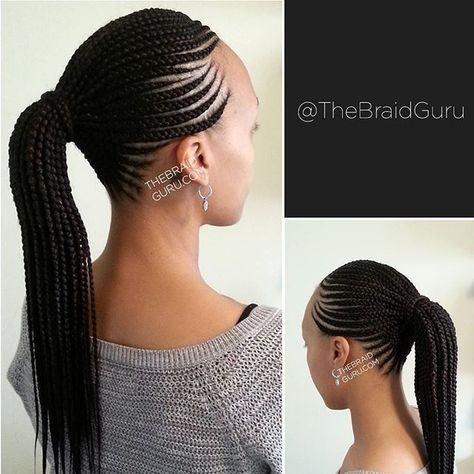 So Neat And Beautiful Cornrow Ponytail Braided Hairstyles African Braids Hairstyles