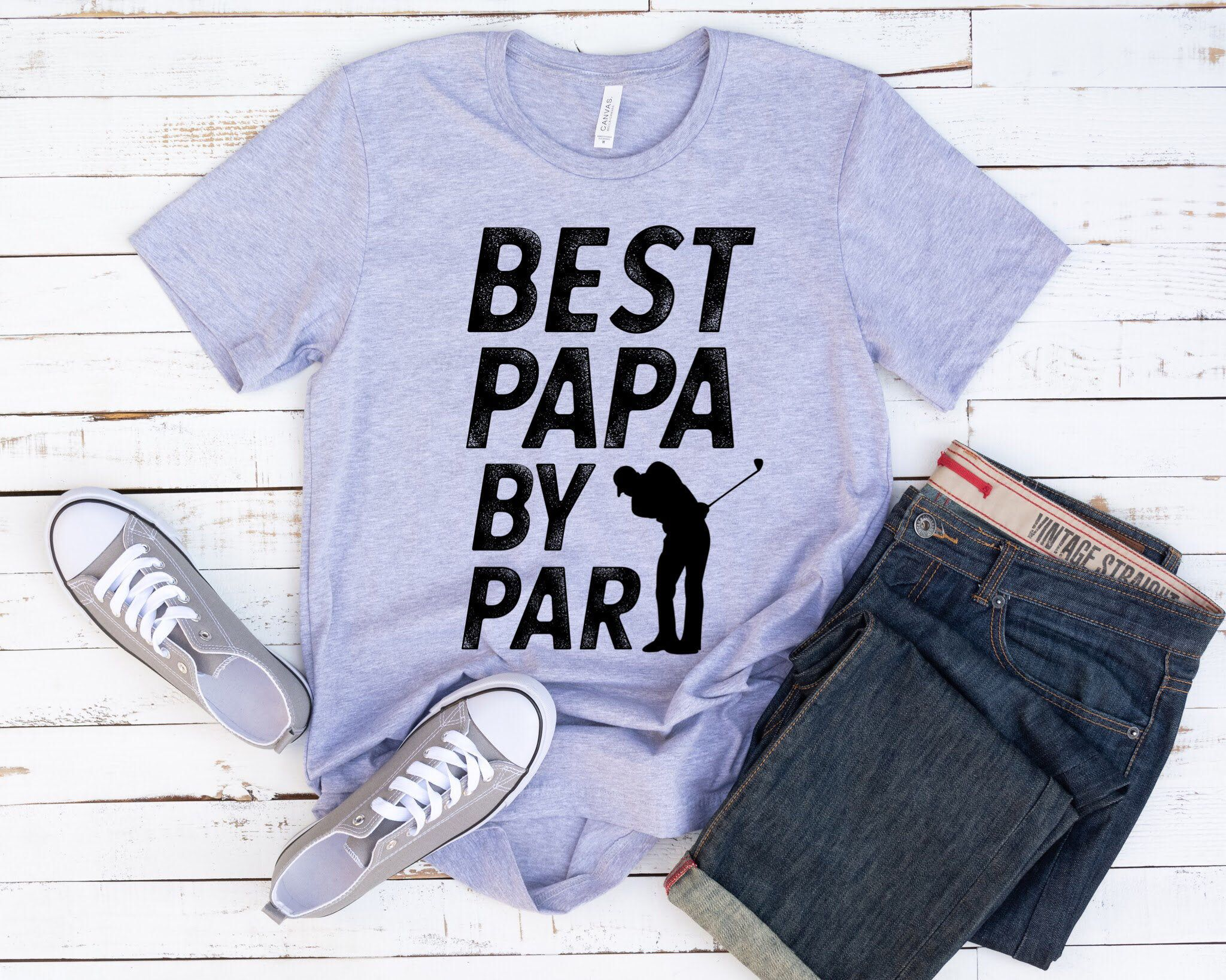 Best papa by par shirt golf gift mens fathers day golfing