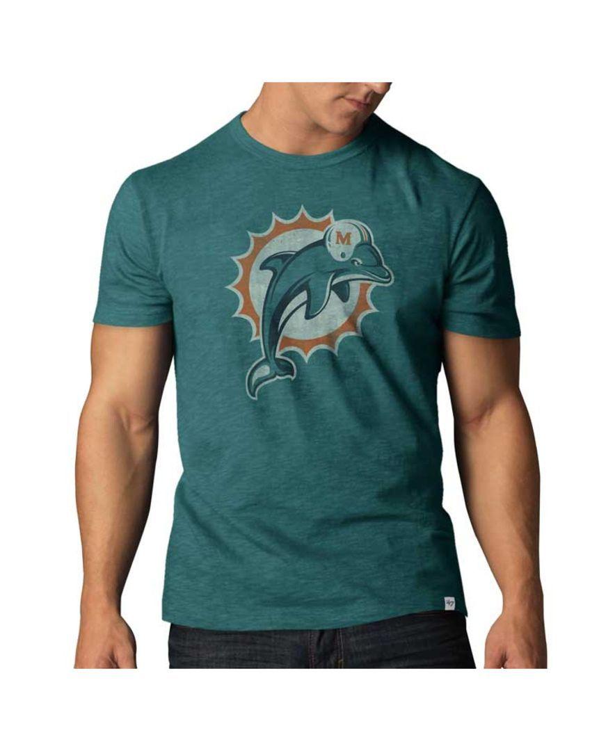 c349416e 47 Brand Men's Miami Dolphins Logo Scrum T-Shirt | Miami clothes ...