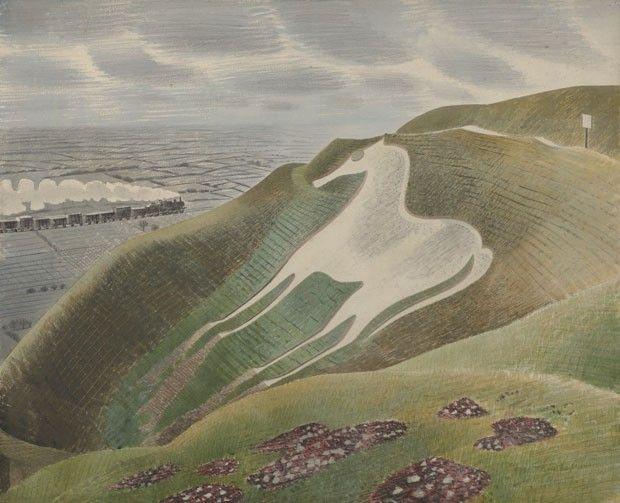 The Westbury Horse, 1939, aquarela e lápis sobre papel