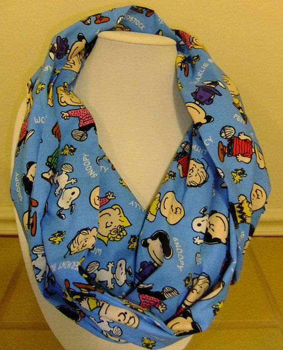 Infinity Scarf Made By Me Using Peanuts Licensed Fabric Snoopy Charlie Brown Accessory 4b934e25bc8bfcd8460ac78d14fc3569
