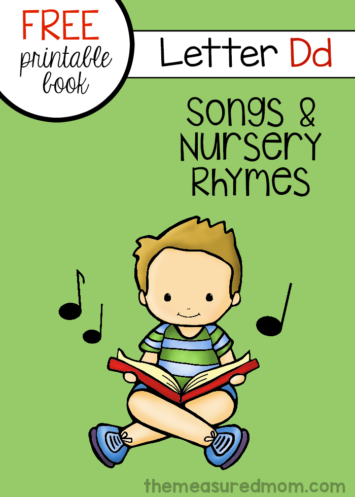 Print This Free Letter Book Of Songs And Nursery Rhymes For Kids Preschool