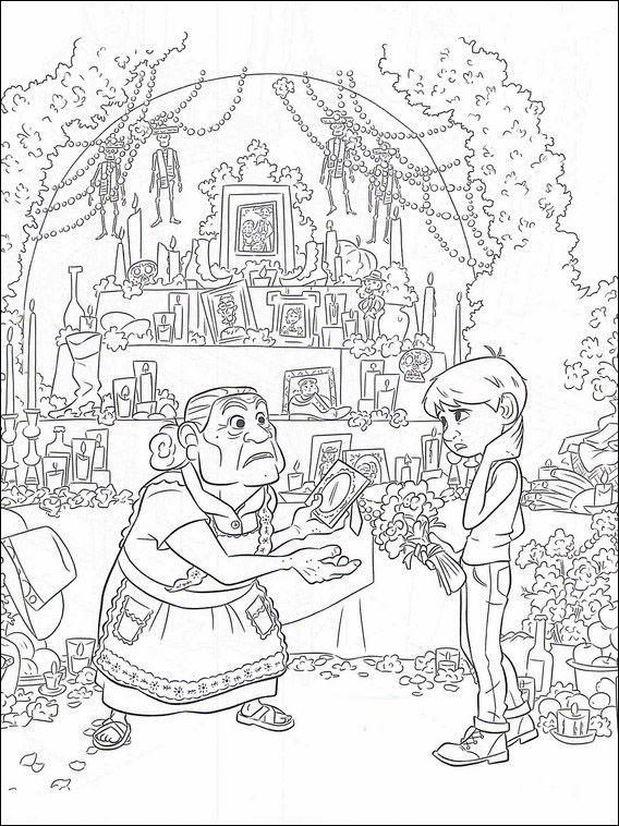 Dibujos para Colorear Coco 9