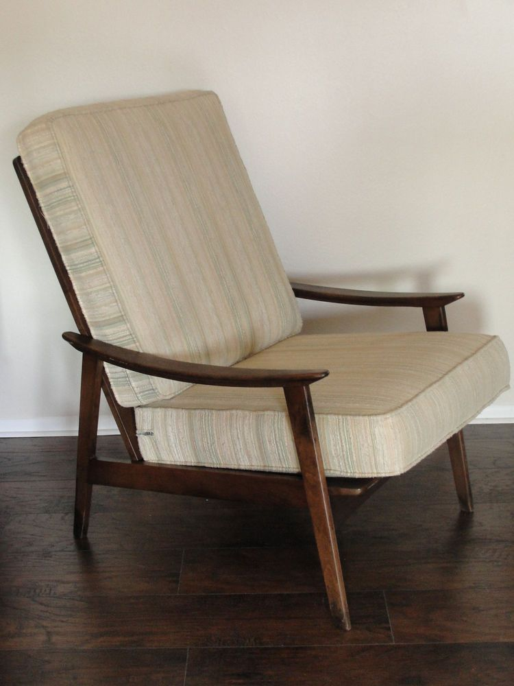Vintage Mid Century Modern High Back Lounge Chair Yugoslavia