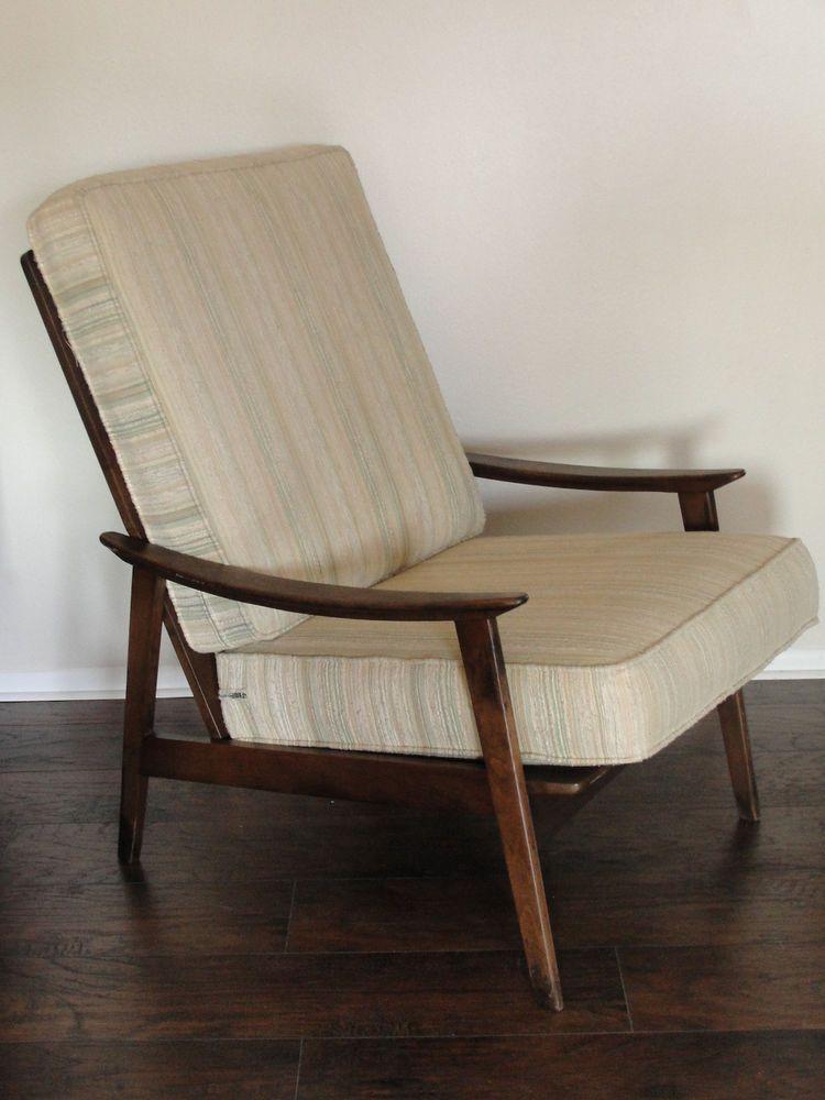 Vintage Mid Century Modern High Back Lounge Chair Yugoslavia Midcenturymodern