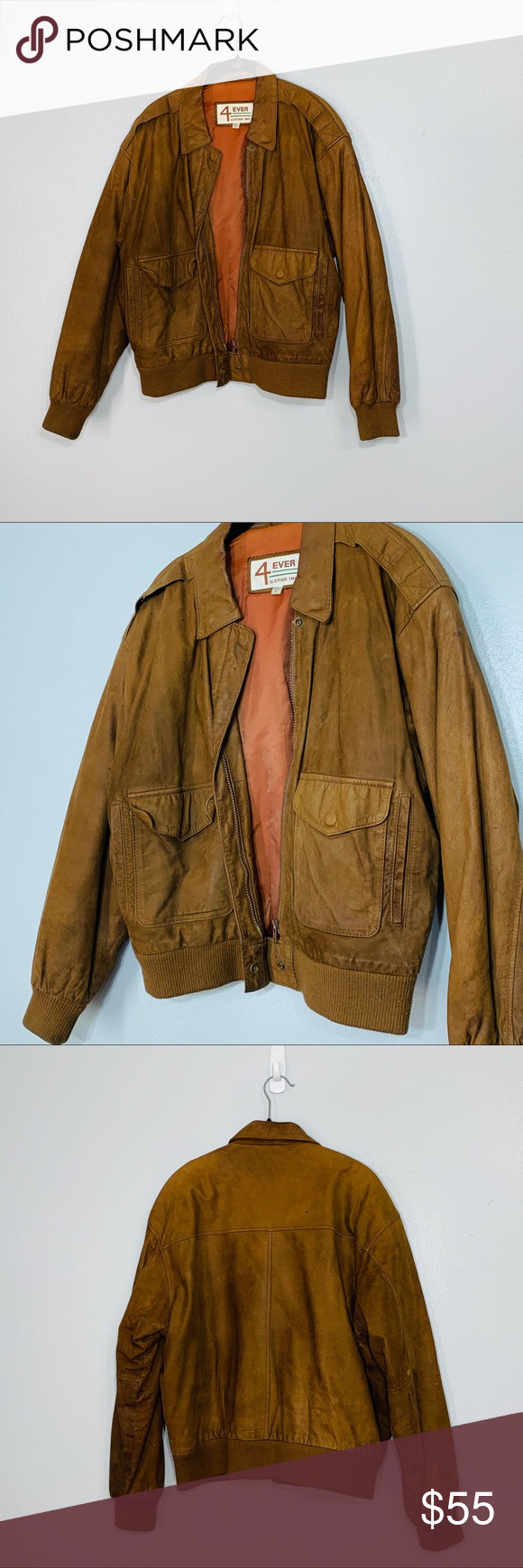 Vintage Brown Leather Bomber Jacket Women S Sz Med Leather Bomber Jacket Women Leather Bomber Jacket Brown Leather Bomber Jacket [ 1740 x 580 Pixel ]