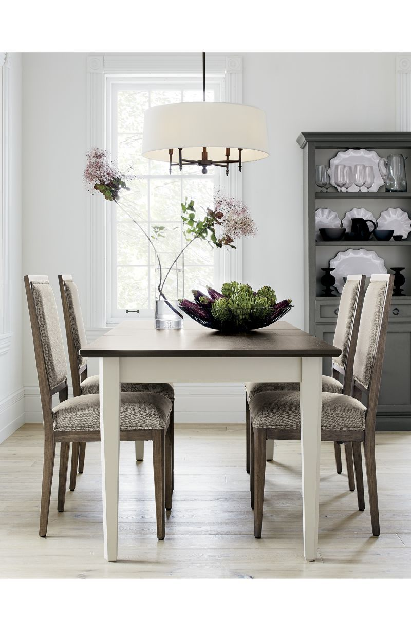 Sonata Pinot Lancaster Grey Dining Side Chair - Crate and Barrel ...
