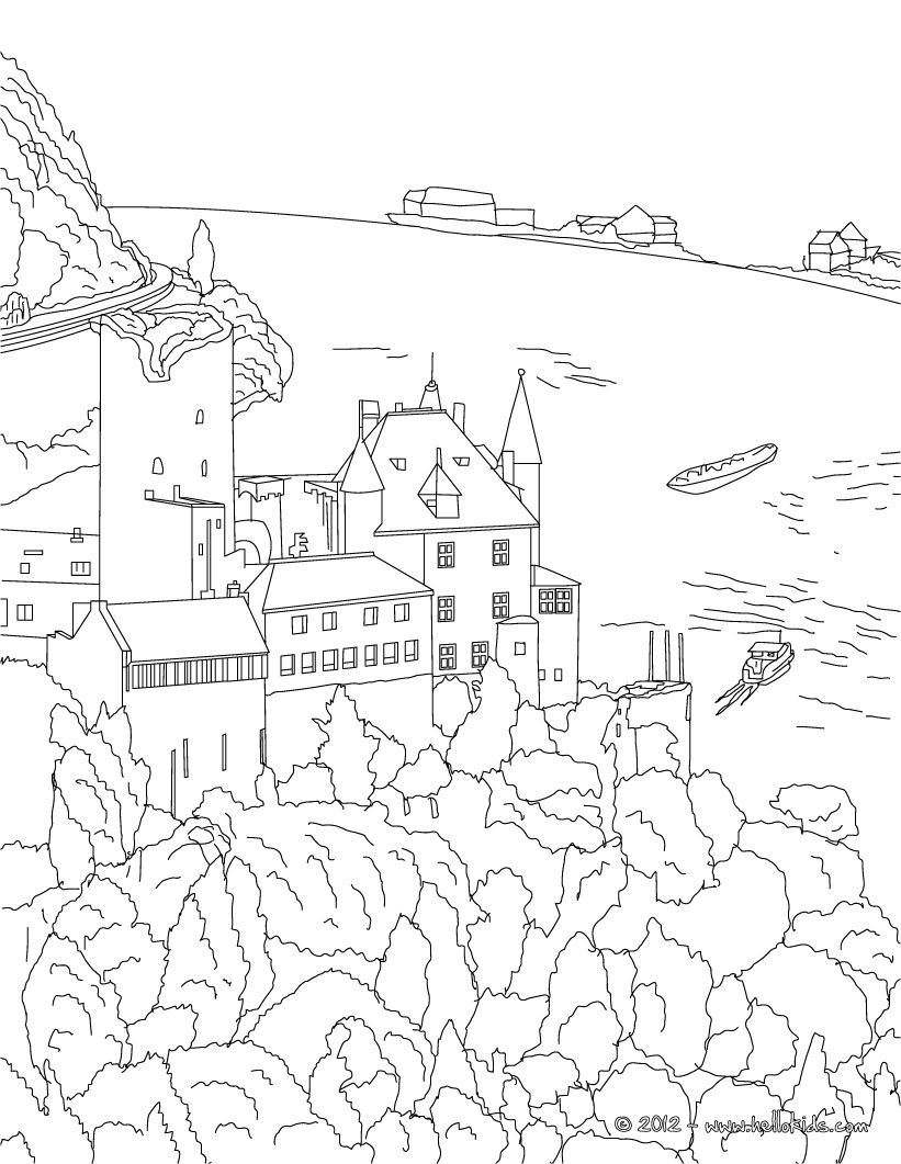 HEIDELBERG CASTLE coloring page   So Crafty   Pinterest