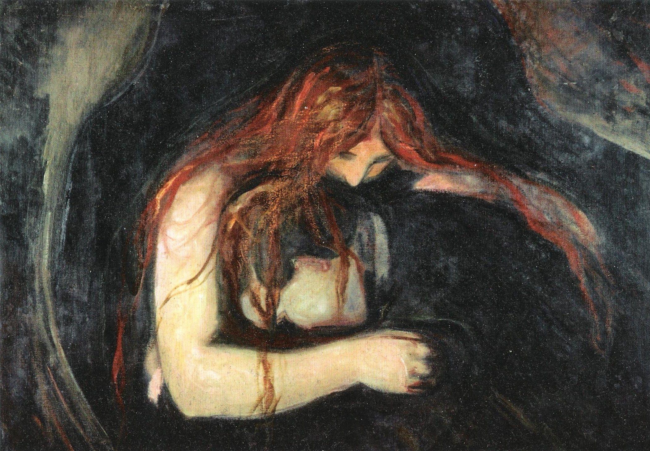 Edvard Munch/Expressionisim 19th Century Vampire