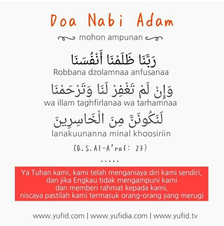 Doa Nabi Adam As Kutipan Pelajaran Hidup Doa Kata Kata Motivasi