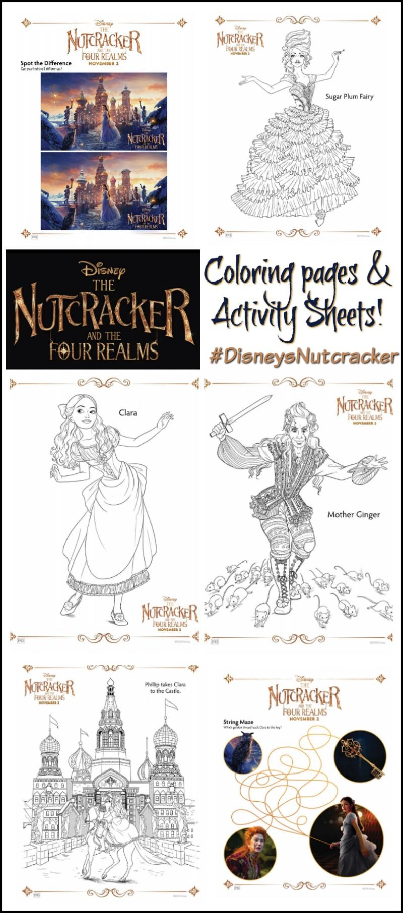 The Nutcracker And The Four Realms Coloring Pages Activity Sheets