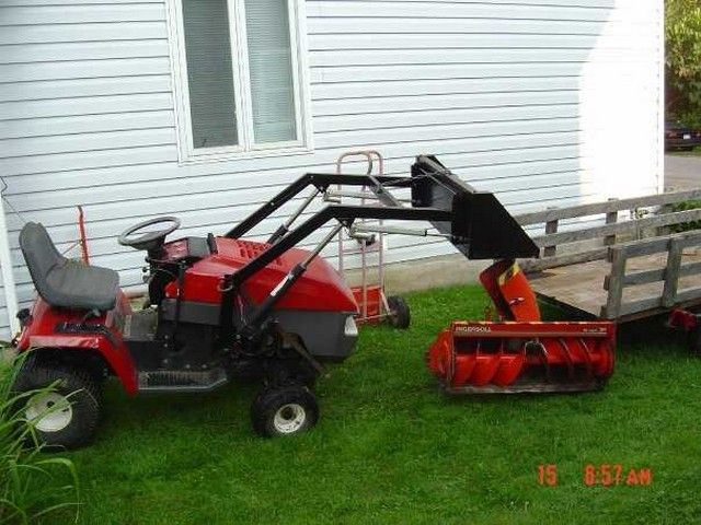 Attractive Homemade Case/Ingersoll Front End Loader   Lawn Mower Forums : Lawnmower  Reviews, Repair