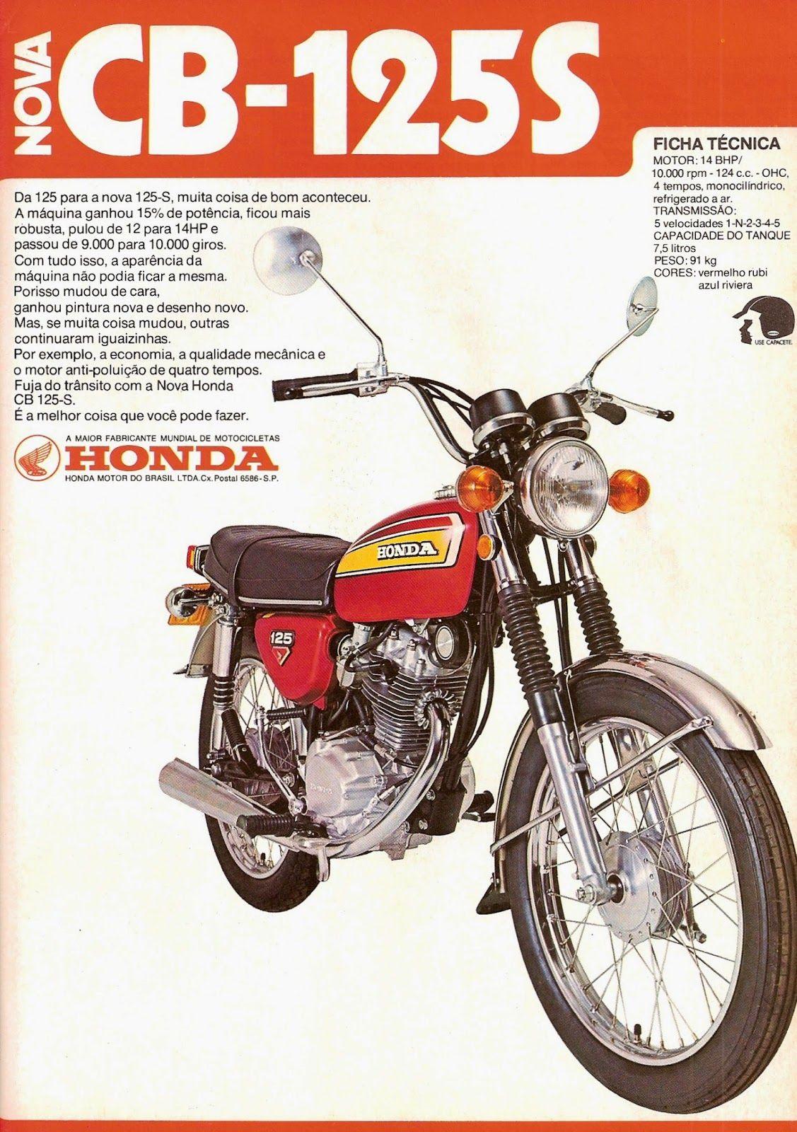 Honda Cb 125s Duas Rodas Motociclismo Out 76 Dos Recrame