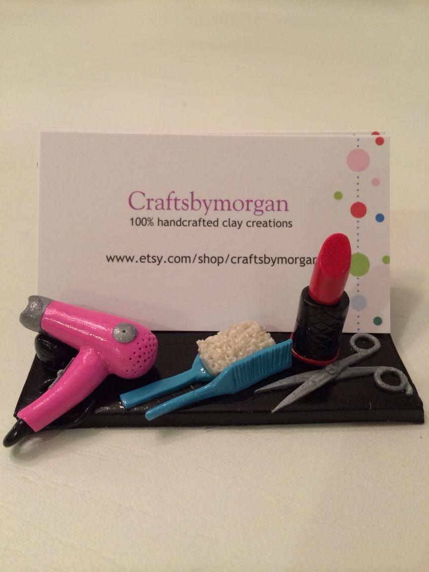 Business card holder for a beautician, hair dresser, stylist ...