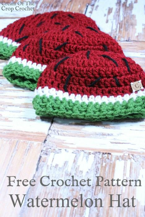 Watermelon Hat Crochet Pattern | Cream Of The Crop Crochet | CHEMO ...