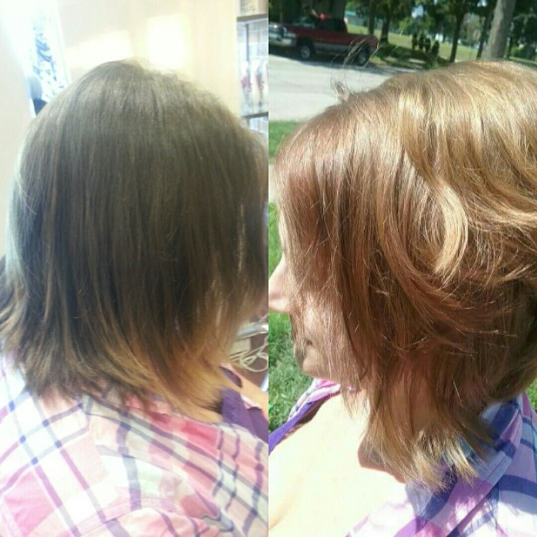 Color Melt With Color Blocking Hair Before And Afters Pinterest